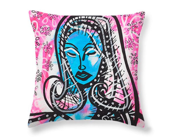 The Lady Waits Pillow